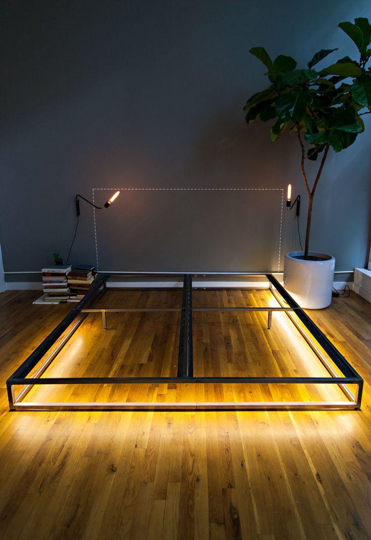 Our bedframe, custom built by Brad Sherman