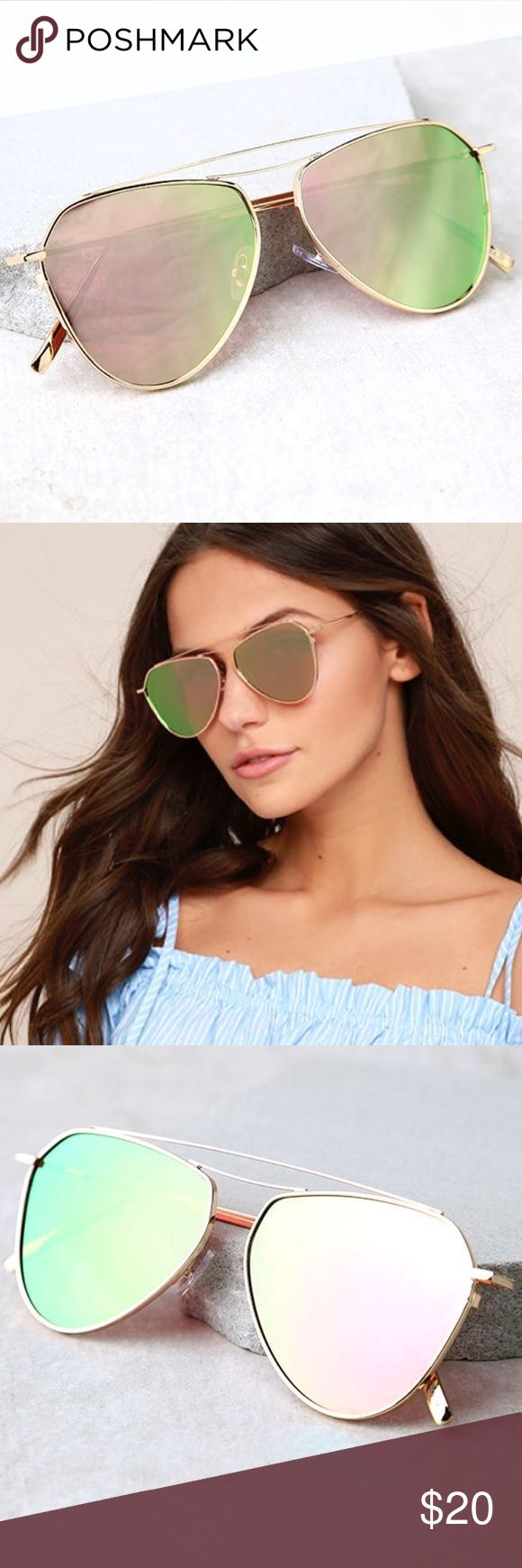 Rose gold aviator sunglasses Brand new without tags, never worn! Frames are rose gold. Price firm unless bundled! Accessories Sunglasses