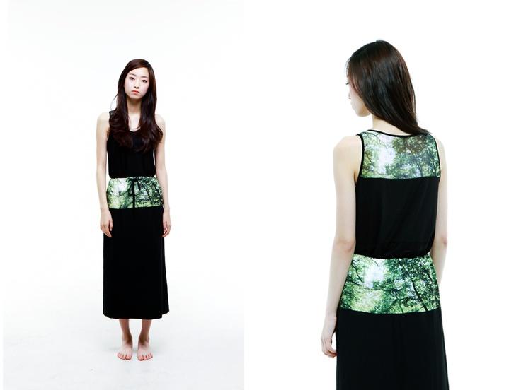 al,thing - Digital print long skirt