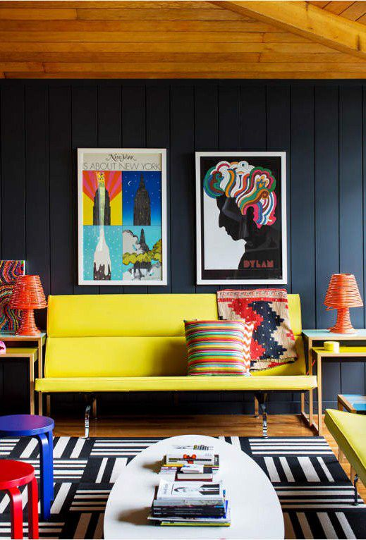 Lovely A Rainbow Of Primary Colors Is Just Right For This Mid Century Modern Room  Design. And What Can Wake Up An Already Color Filled Room? Pictures