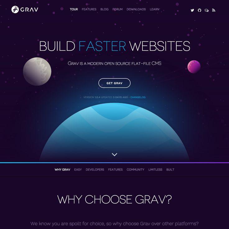 Grav 1.1  An open source flat file CMS updated
