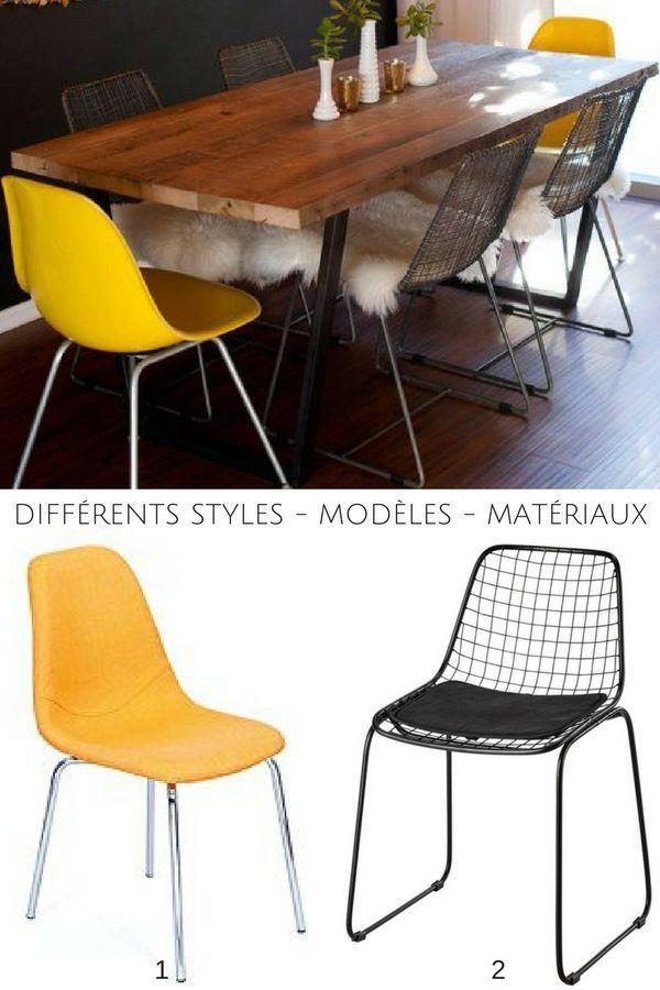 Les 25 meilleures id es de la cat gorie jaune noir sur pinterest for Quelle chaise pour table en verre
