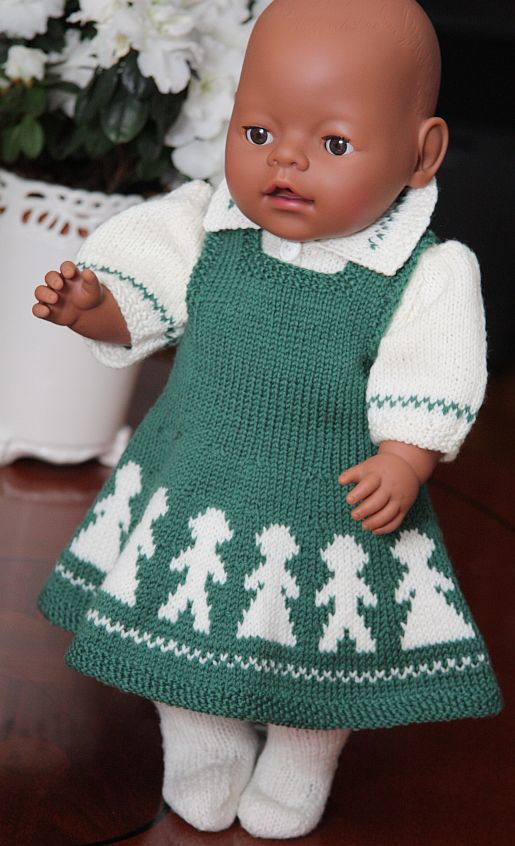 Knitting Pattern For Dolls Jumper : Baby Born Doll clothes- knitted jumper BABY BORN KLEDING ...