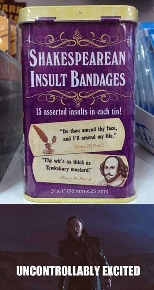 Cool Shakespearean Bandages