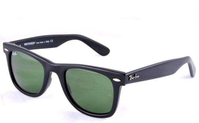 ray ban wayfarer sunglasses black frame green lens. Black Bedroom Furniture Sets. Home Design Ideas