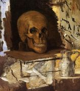 Still Life Skull And Waterjug  by Paul Cezanne