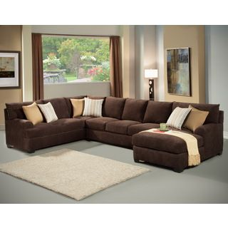 furniture of america zian 3piece modern micro denier upholstery sectional - Radley Sectional