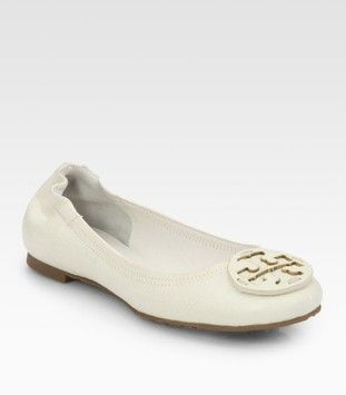 Tory Burch White Flats $135