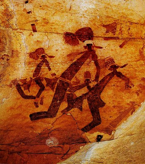Ancient Bradshaw cave art paintings  ( Bradshaw Foundation )