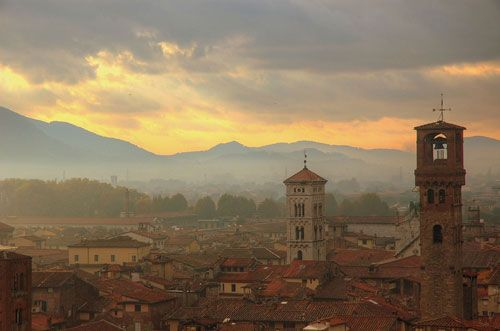 Lucca Italy at sunset#Repin By:Pinterest++ for iPad#