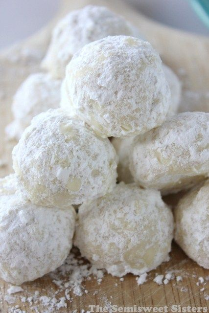 Snowball Cookies made Without Nuts! (also known as Russian Teacakes or Mexican Wedding Cookies) #Christmas