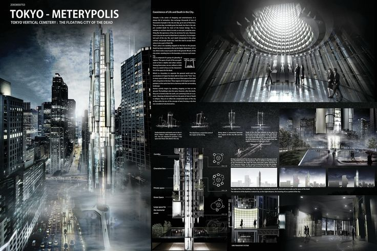 """ TOKYO - METERYPOLIS "" - Tokyo Vertical Cemetery competition finalist"
