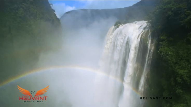 Cascada de Tamul y Puente de Dios desde el cielo de la Huasteca Potosina