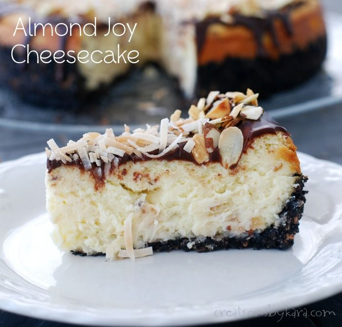Almond Coconut Cheesecake on MyRecipeMagic.com