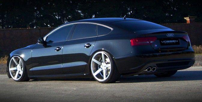 Audi S5 Sportback customisée avec de belles jantes Vossen VVS-CV3, l'une des plus belles et équilibrées lignes pour une auto 4 portes de grande marque...