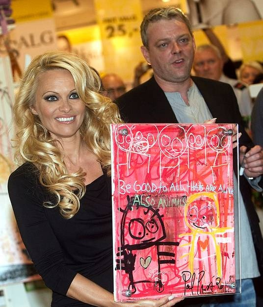 Pamela Anderson and Poul Pava, Denmark
