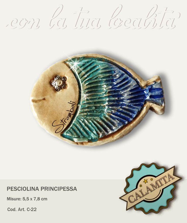 Un vera principessa questa bella pesciolina calamitata. Possibilità di personalizzazione.