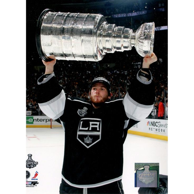 Jonathan Quick Holding Stanley Cup Trophy 8x10 Photo