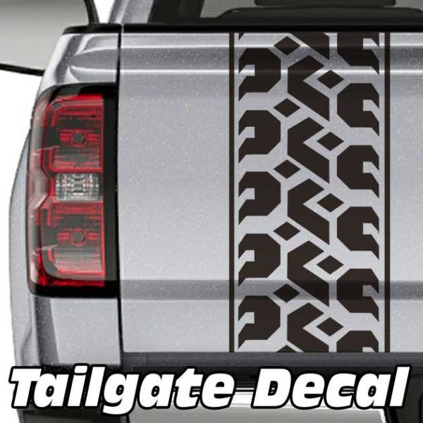 Tire Tread Truck Tailgate Decal