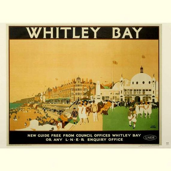 Whitley Bay Northumberland England Travel Poster by BloominLuvly, $10.00