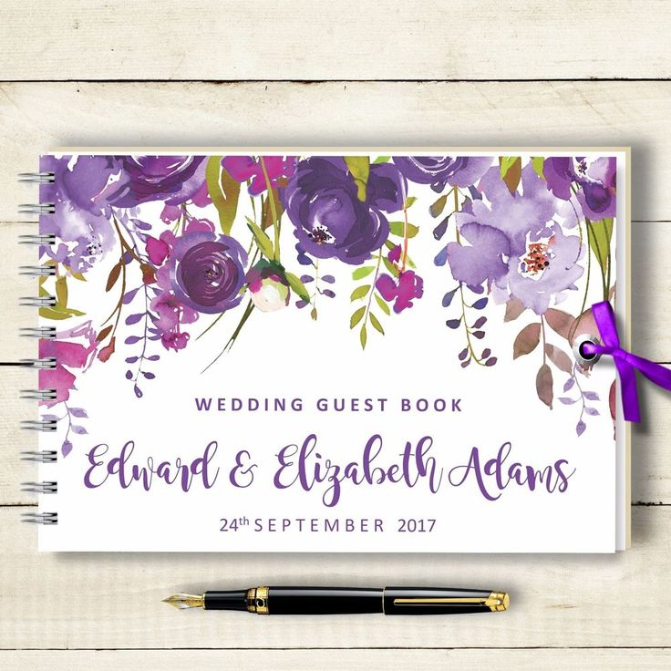 Personalised Wedding Guest Book ,Purple Lalique, Blank Message Book, Photo Album | Home, Furniture & DIY, Wedding Supplies, Guest Books & Pens | eBay!