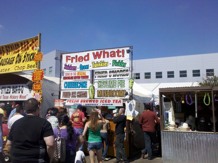 Houston Rodeo food tastes good. – We tried fried cookie dough, fried oatmeal cre…