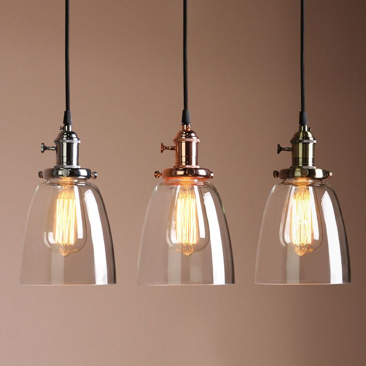 Charming Vintage Industrial Ceiling Lamp Cafe Glass Pendant Light Shade Light Fixture Photo