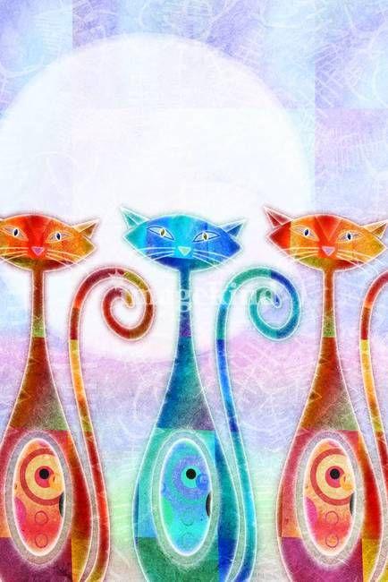 Moon Kats colorful kitty cats