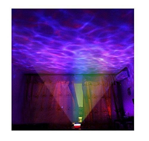 Lightahead Ocean Master Romantic Relaxing Ocean Wave Light Multi Color Projector a Built-in Speaker That Can Be Used With A Audio Cable A One Hour Auto Shutdown [energy Class A]