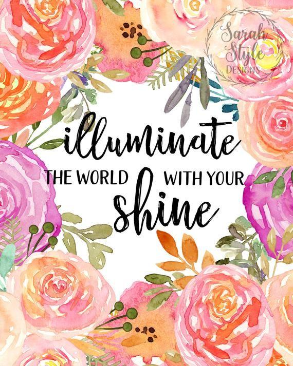 Printable Wall Art Motivational Shine Printable Digital Download