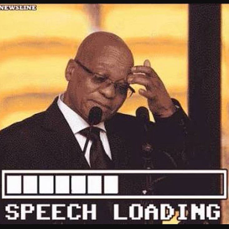 His RAM is full #zuma #onehundredandonetytwoandthree #southafrica - Enjoy the Shit South Africans Say! #CapeTown #africa #comedy #humor #braai #afrikaans