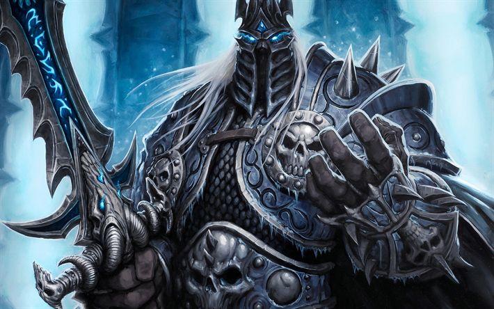 Descargar fondos de pantalla WoW, 4k, Rey Exánime, el arte, el Mundo De Warcraft