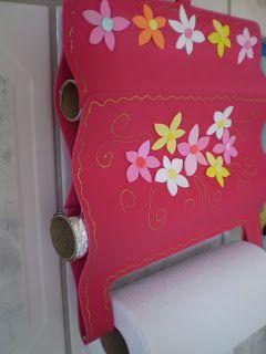 Blog Luana Alves Artesanato em EVA: Porta papel toalha olha só que inovador ^^