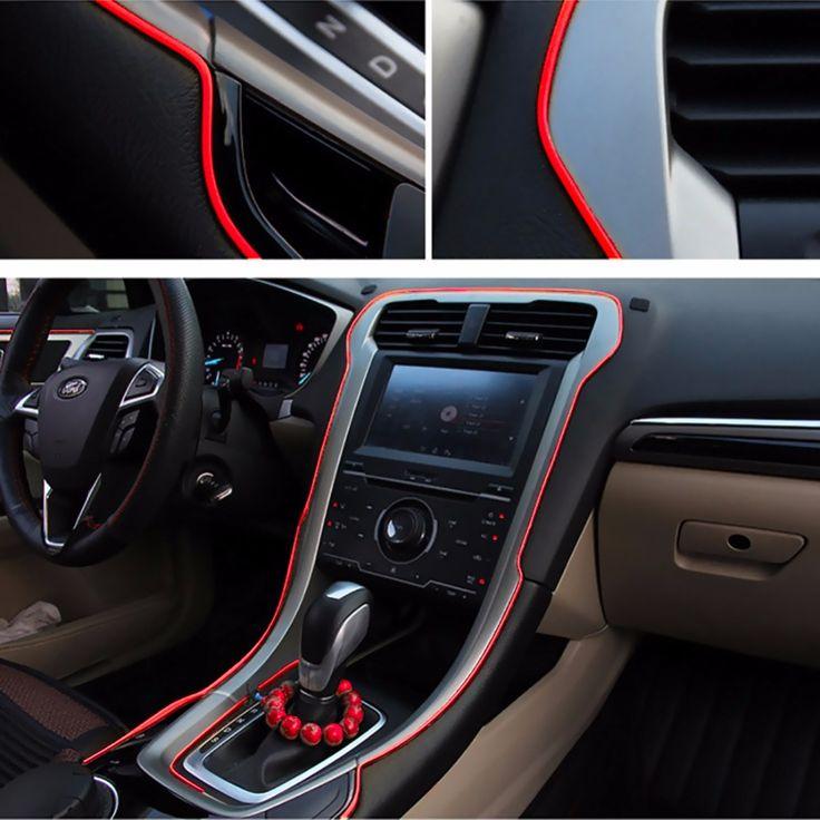 5 M Car Grille Exterior Potong Dekorasi Jalur Jalur Mobil Chrome Shiny Jalur Jalur Mobil Strip Interior Decor