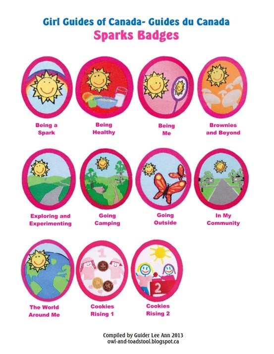 GGC Sparks Badges ...'Keepers' ...owl-and-toadstool.blogspot.ca