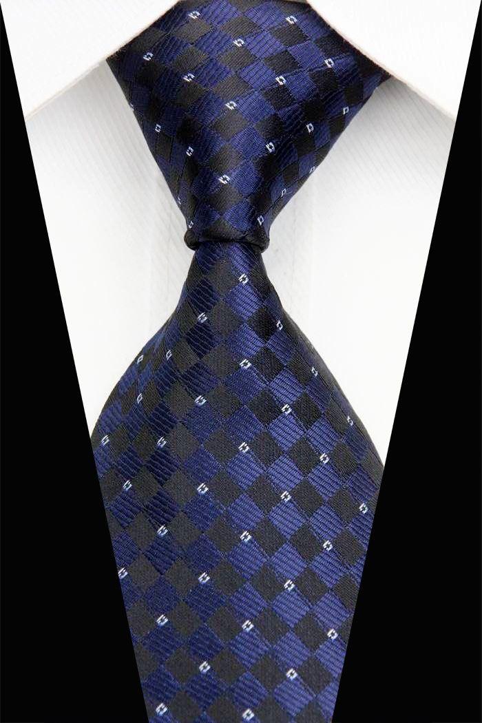 NT0508 Wholesale New Fashion Blue Striped Striped Men Silk Ties 2016 New Brand Fashion Neckwear Neckties Wedding Party Gravatas
