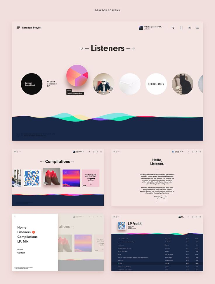 Listener's Playlist on Behance
