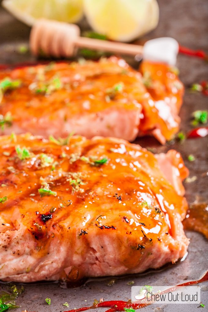 This Honey Lime Glazed Salmon is zesty, sweet, savory, and full of flavor in every bite!!
