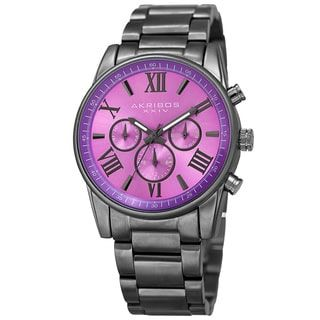 Shop for Akribos XXIV Women's Swiss Quartz Multifunction Purple Gun Stainless Steel Bracelet Watch. Get free delivery at Overstock.com - Your Online Watches Shop! Get 5% in rewards with Club O! - 18616263