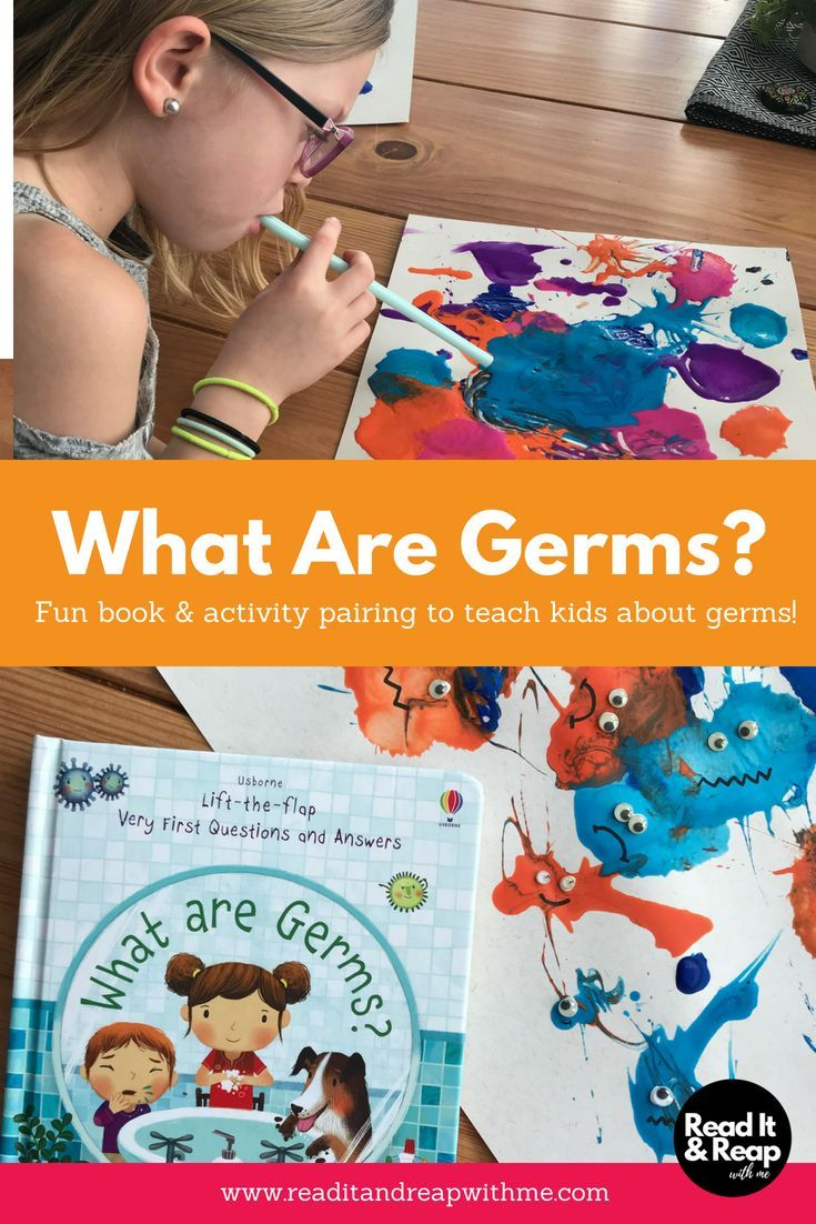What A Simple Fun Activity For Kids To Help Teach Them About Germs Paired With Germs For Kids Usborne Books Party Kid Activity Board [ 1102 x 735 Pixel ]