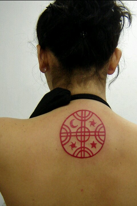 going to get something like this...  a mapuche kultrun tattoo
