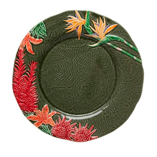 "Tropical Charger Plate, 13.5"" by Bordallo Pinheiro"