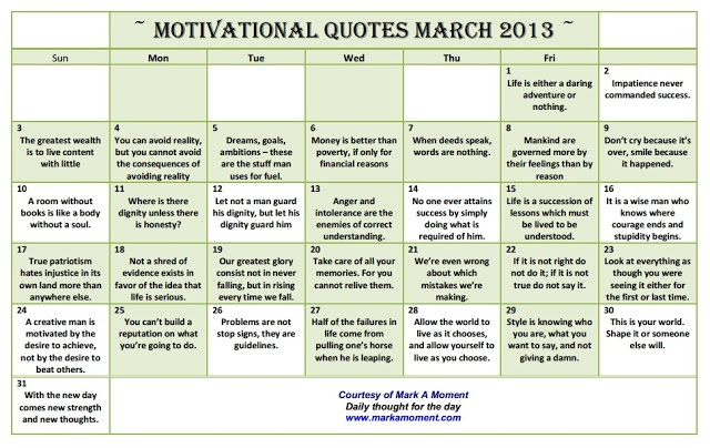 Monthly Calendar Quotations : Best images about monthly motivational quotes calendar