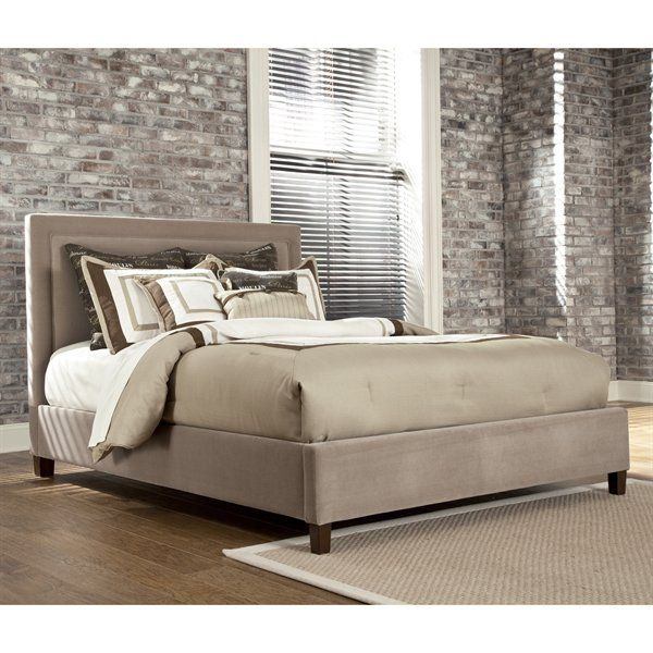 Signature Design By Ashley Upholstered Box Framed Bed Home Furniture Showroom Cozy Bedrooms