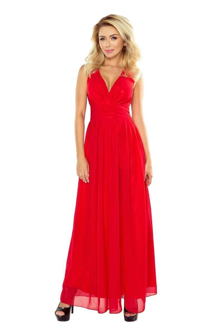 Ladies Evening Red Evening Gown