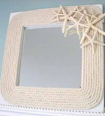 28 best DIY Mirror Frames images on Pinterest | Craft, Diy mirror ...