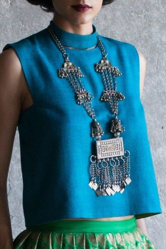 Payal Khandwala's vibrant hues & vintage jewellery for an eclectic mehndi look