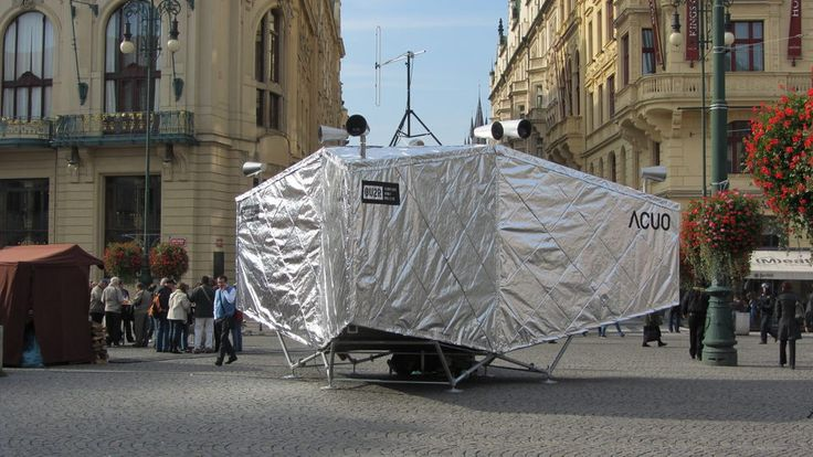 ACUO - interactive audiovisual instalation in the center of Prague