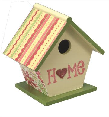 Home for the Birds Painted Birdhouse