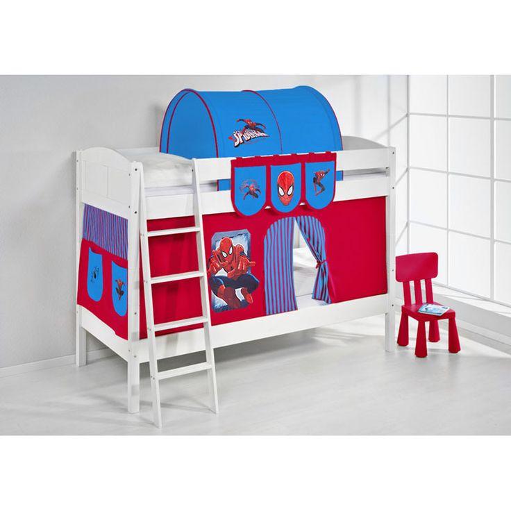 etagenbett ida spiderman mit vorhang wei jetzt bestellen unter - Etagenbett Couch Lego Film